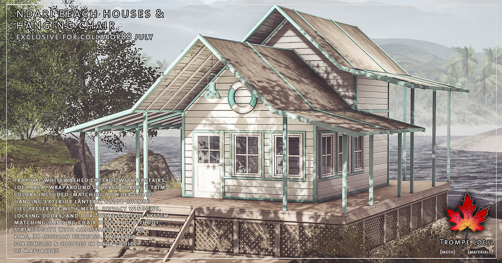 Trompe Loeil   Ndari Beach Houses U0026 Hanging Chair For Coll ...