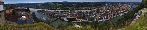 Hoch über dem sommerllichen Passau