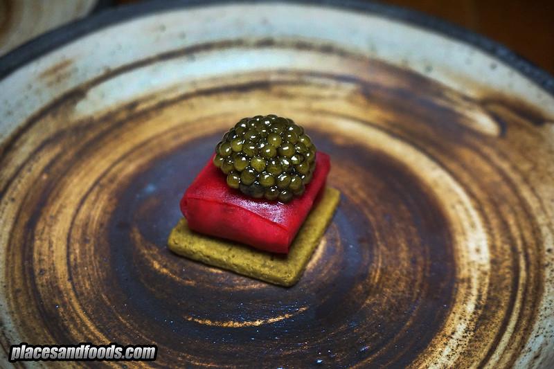 pru phuket snack sturgeon with caviar