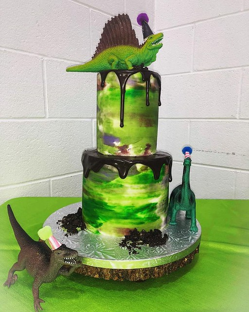 Dino Themed Cake by Cook's Cakery