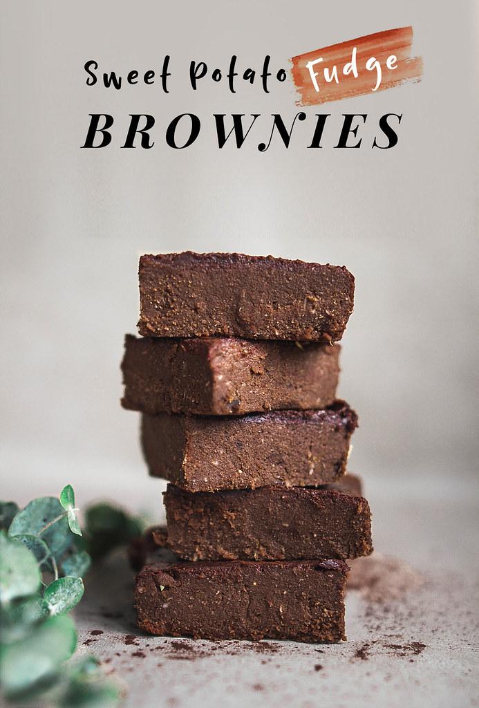 Sweet Potato Fudge Brownies (Baked, Vegan)