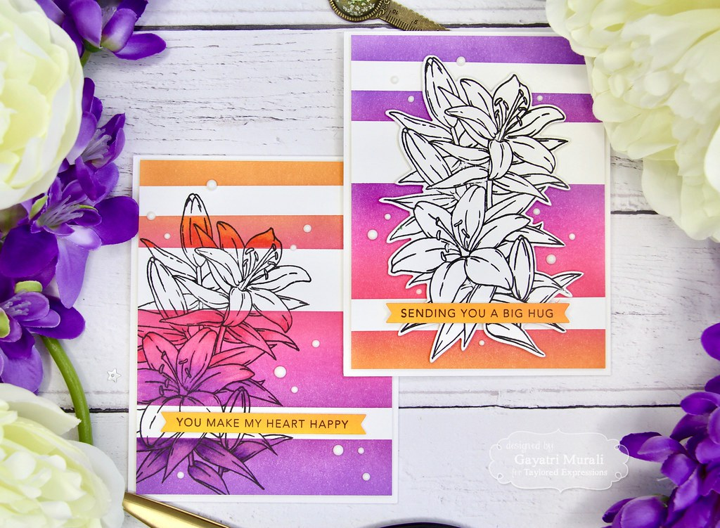 Striped Ink Blending card set