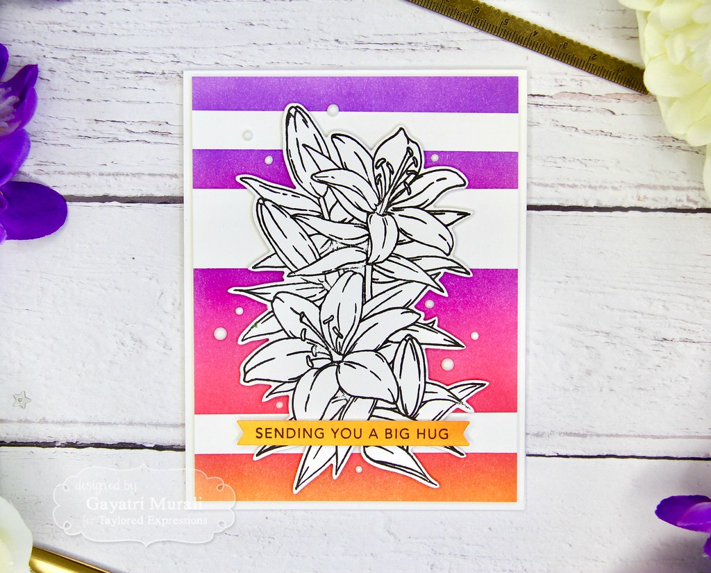 Striped Ink Blending card #2
