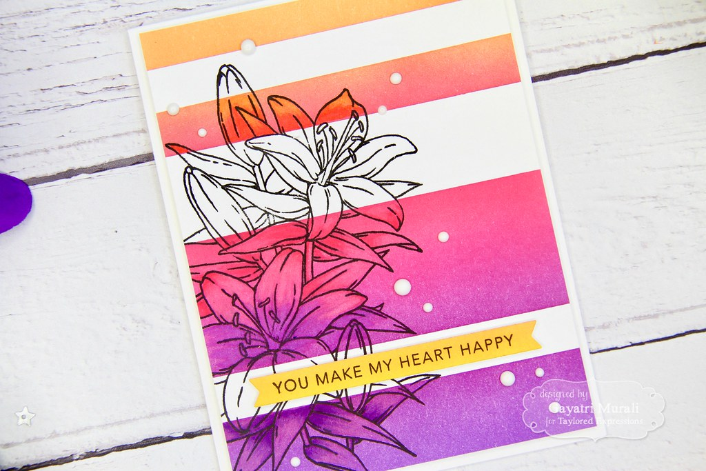 Striped Ink Blending card #1 closeup