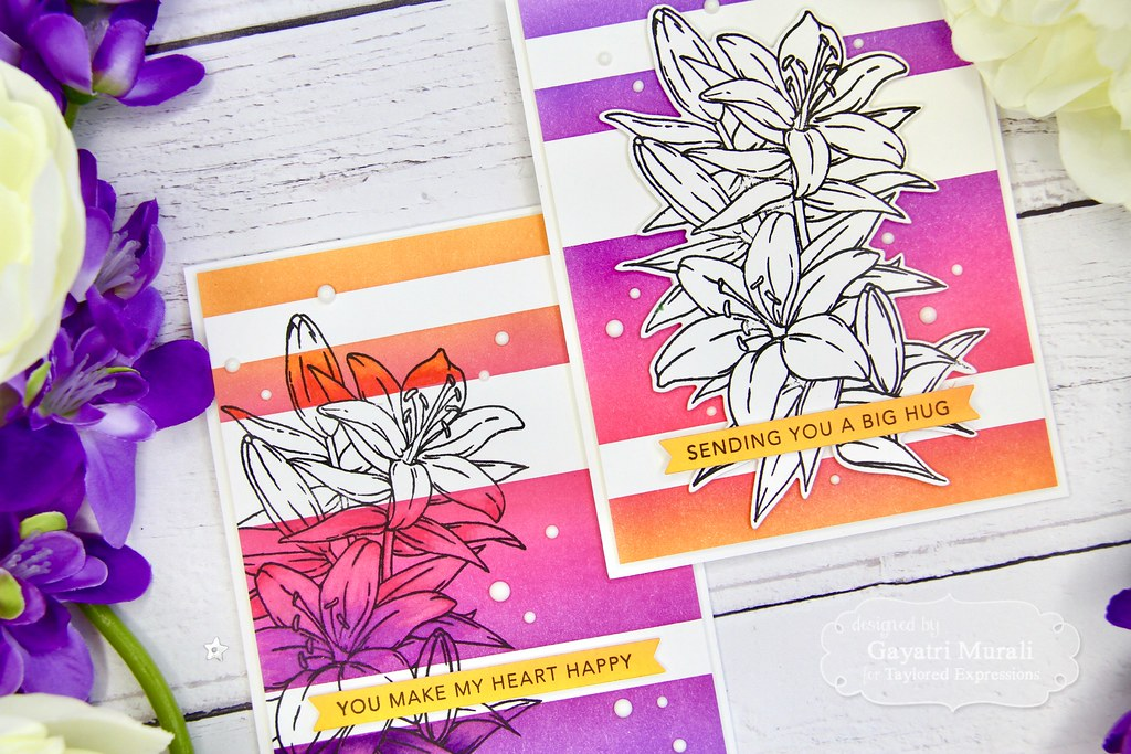 Striped Ink Blending card set closeup1