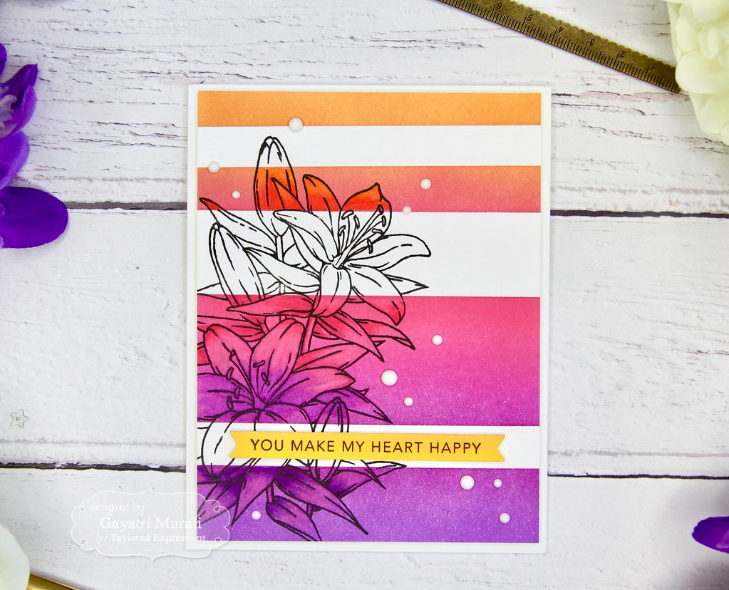 Striped Ink Blending card #1