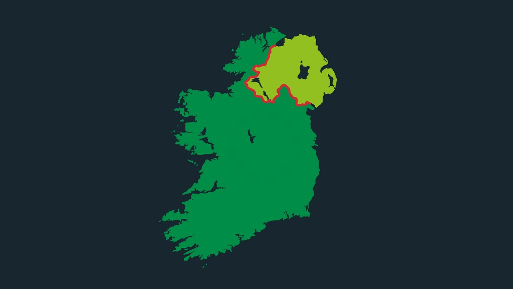 A graphic of Northern Ireland