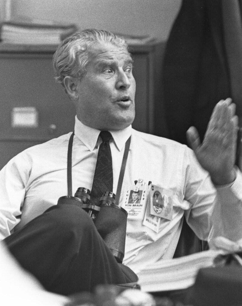 Dr Wernher Von Braun Following The Launch Of Apollo 11