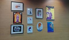 Exposición de obras de las artistas locales.