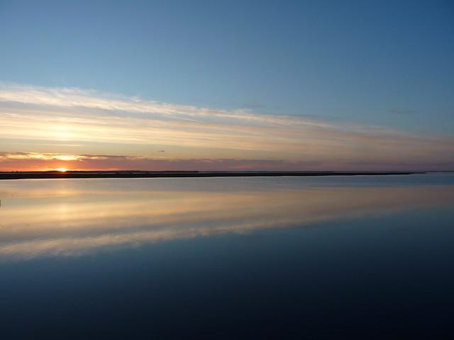 Brücke Mön - Nyord - sunset