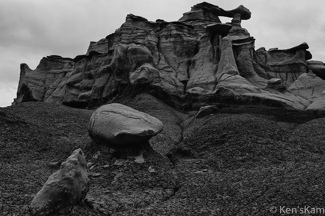 A Monochrome Day in Bisti