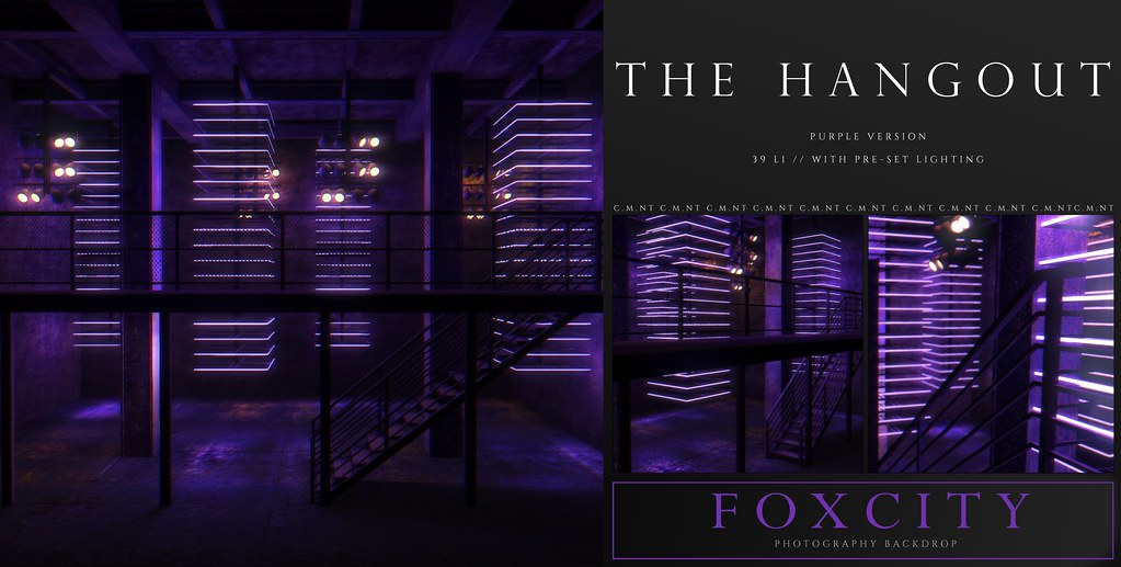 FOXCITY. Photo Booth – The Hangout (Purple)