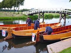 De boten liggen klaar voor de terugreis
