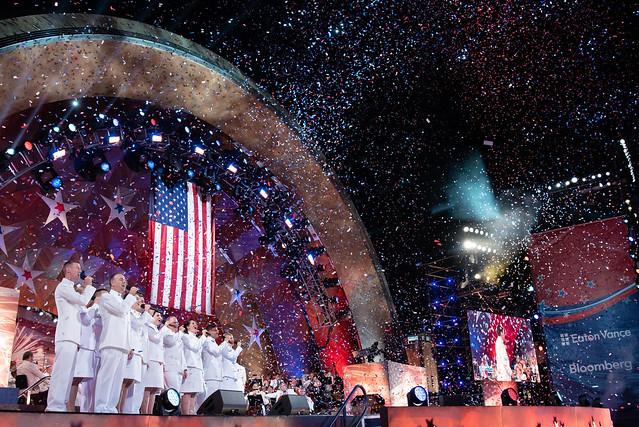 U.S. Navy Band Sea Chanters chorus perform in Boston.