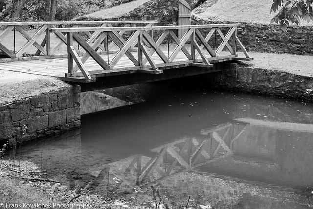 Wooden bridges at the Hagley Museum