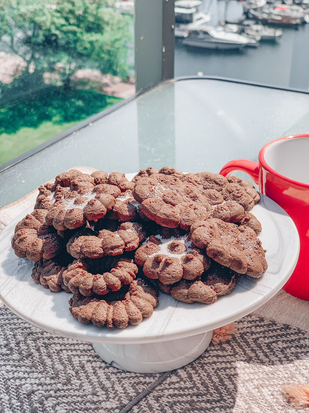 Chocolate & Coffee Pressed Cookies