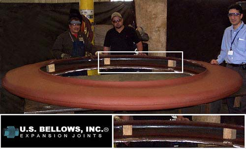 U.S. Bellows Designed and Fabricated Thick Wall Flanged and Flued Head Expansion Joints
