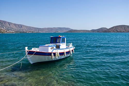 Boat in front of Elounda