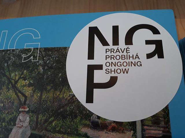 Logo Národní galerie Praha v několika proměnách