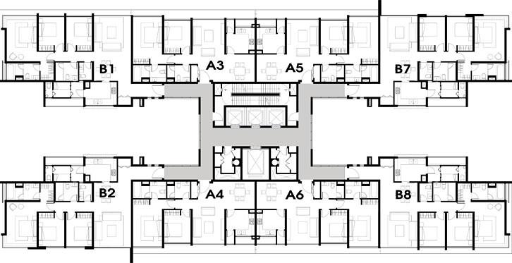 Mặt bằng căn hộ tháp T5