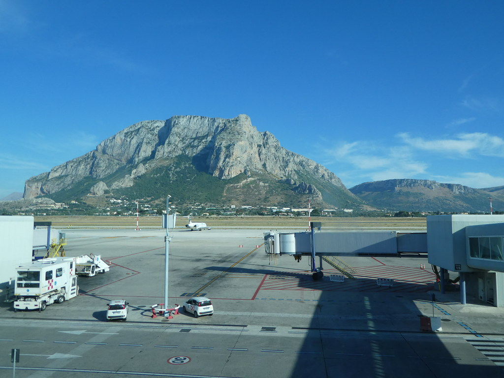 View from the terminal at Palermo Airport