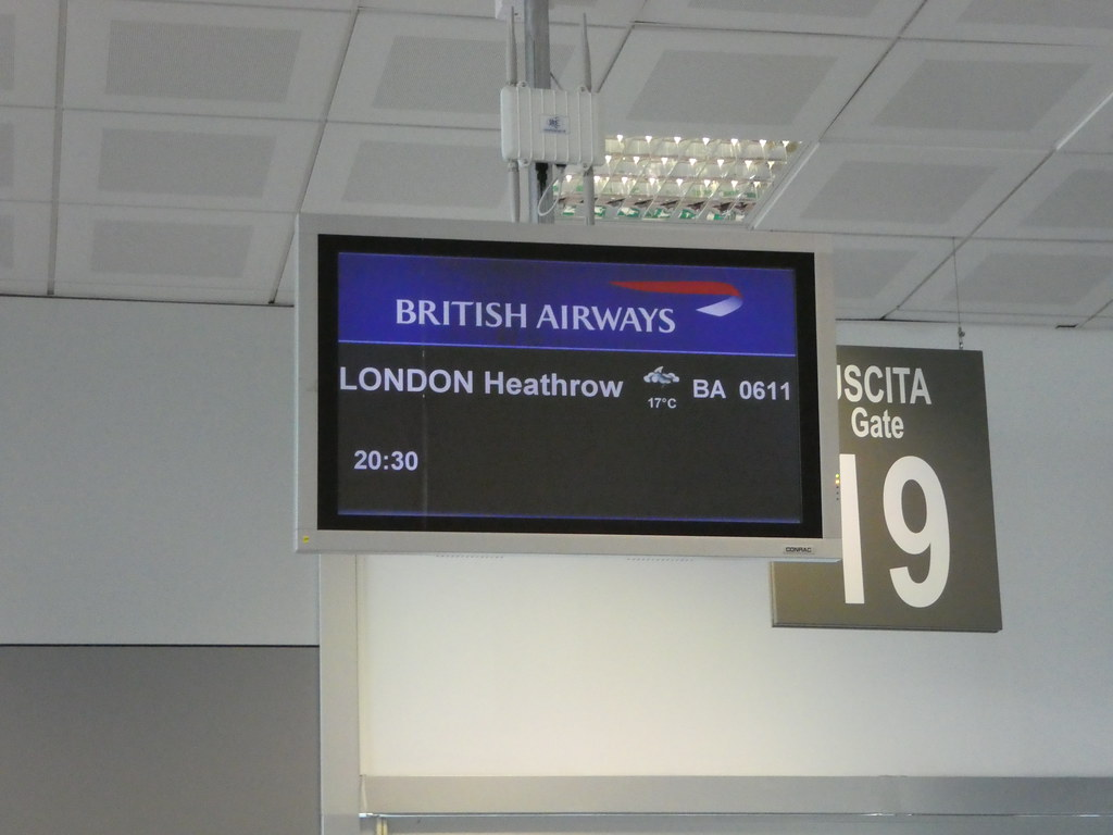 British Airways Gate Palermo Airport