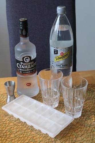 Zubereitung Wodka-Tonic