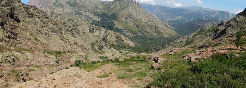 Vues de la descente du ravin de la Paglia Orba