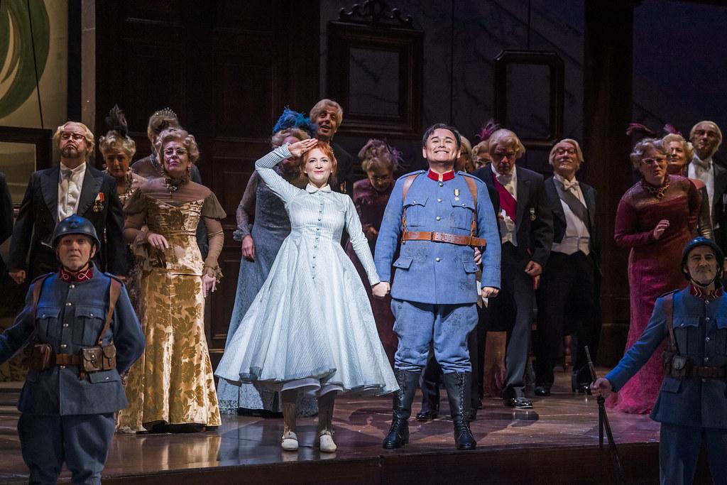 Sabine Devieilhe as Maria and Javier Camarena as Tonio in La Fille du régiment, The Royal Opera © 2019 ROH. Photograph by Tristram Kenton