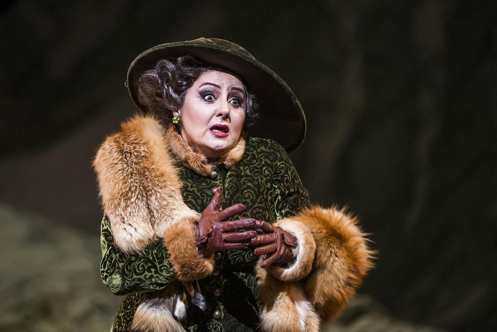 Enkelejda Shkoza as Marquise de Berkenfield in La Fille du régiment, The Royal Opera © 2019 ROH. Photograph by Tristram Kenton