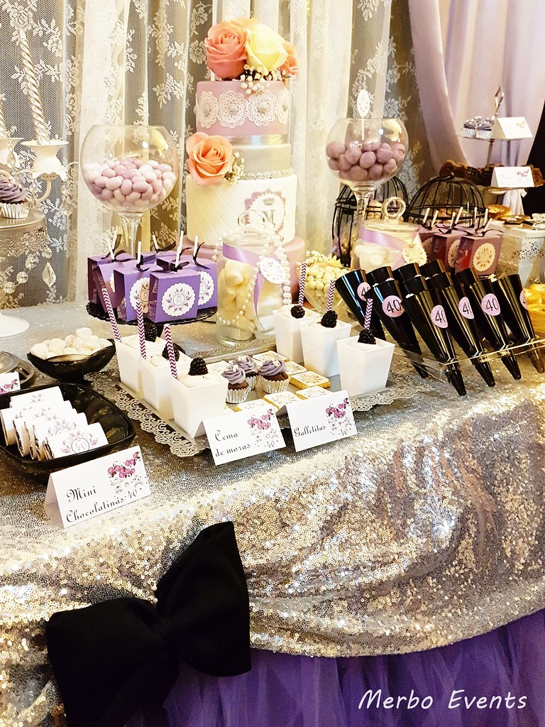 mesa dulce para 40 cumpleaños merbo events