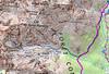Carte IGN Géoportail avec itinéraire des Due Sore W et le secteur Paglia Orba - Grande Barrière