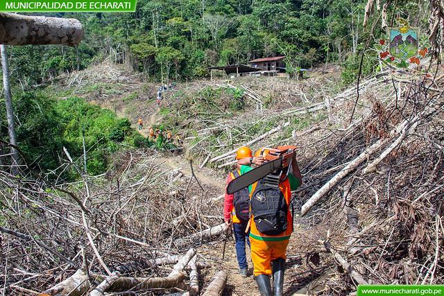 Municipalidad de Echarati reinicio construcción de la carretera Saniriato - Cachingari