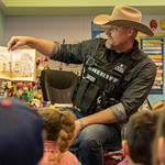 March 12, 2019 - 09:25 - Photographer: Danny Bavaro, PIO PCSO  Date Taken: March 2019  Brief Description: Sheriff Mark Lamb reads to kids at Mountain Vista K-8 in Oracle, Arizona  Name of Individuals in the  Image: Sheriff Mark Lamb  Sheriff's Office: Pinal County Sheriff's Office County and State: Pinal County, Arizona