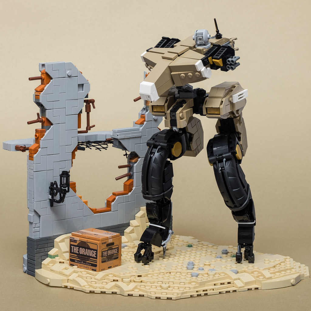 "Gekko (from ""Metal Gear Solid 4: Guns of the Patriots"") (custom built Lego model)"