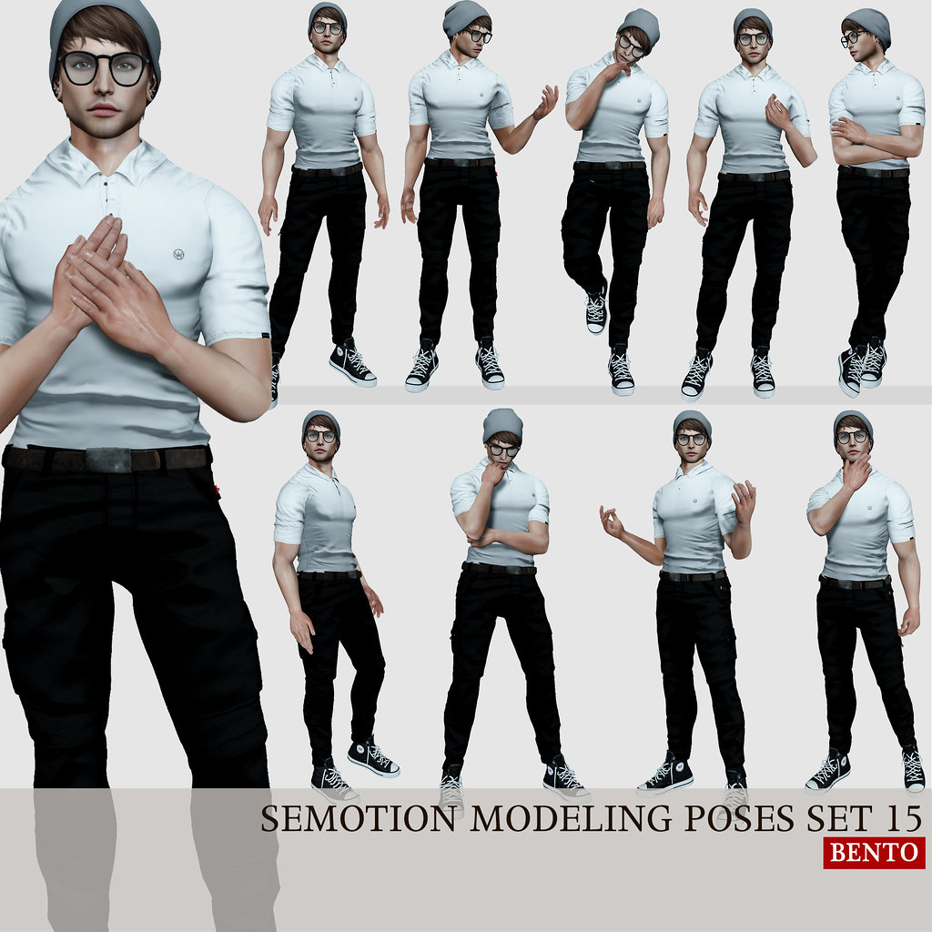 SEmotion Male Bento Modeling poses set 15