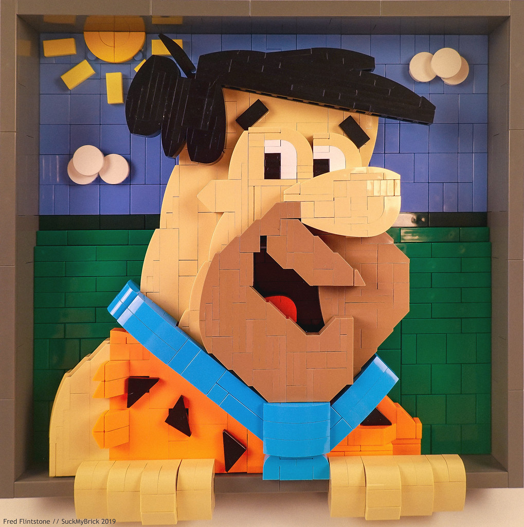 Fred Flintstone (custom built Lego model)