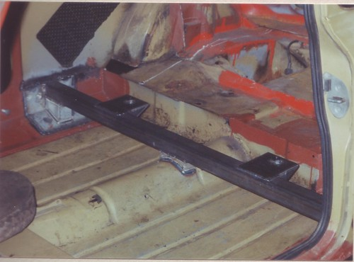1991-12-26 The crossbeam welded in for rear subframe front mounts | by Ronski-man
