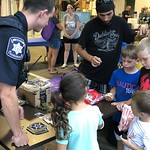 August 7, 2018 - 18:12 - Make-a-Wish at the Lancaster County Sheriff's tent with small gifts for kids.    Date: May 2018  Pictured: Deputy Griffith