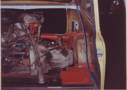 1991-12-28 Engine and subframe installed | by Ronski-man