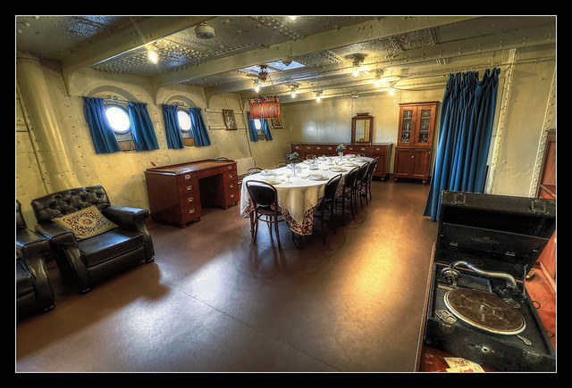 Belfast NIR - HMS Caroline Officers' mess 01