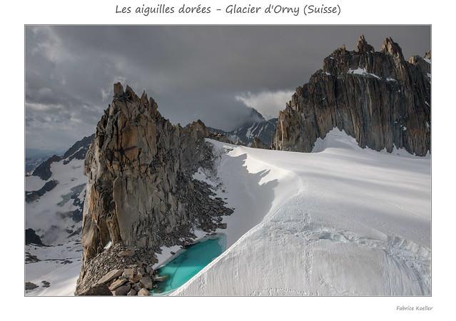 Les Aiguilles dorées - Glacier d'Orny (Suisse)