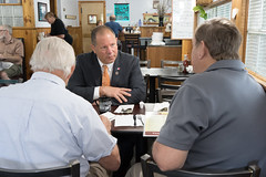 Rep. Fishbein meets with constituents during  Coffee and Conversation at Dad's Restaurant on Route 5.