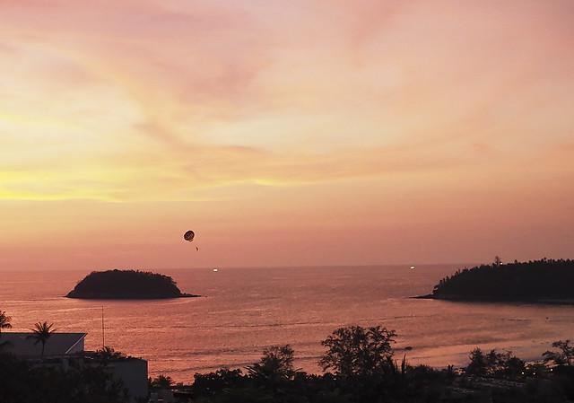 paragliding after Sunset, Phuket