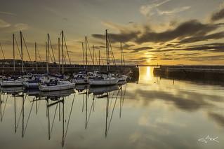 Fisherrow Harbour Sunset