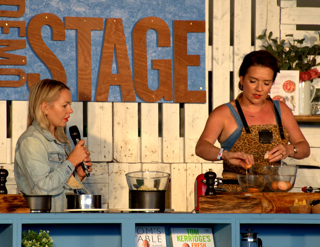 Candice Brown at Pub in the Park, Warwick with Chef Tom Kerridge
