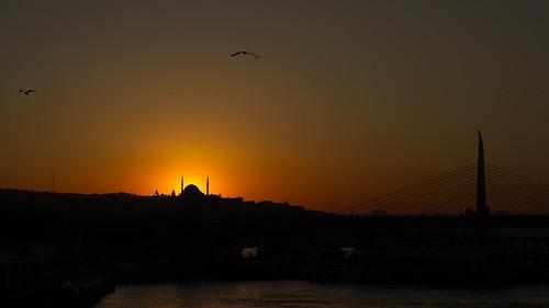 Couché de soleil sur Istanbul