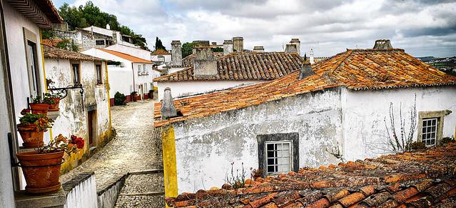 Street in Obidos, Portugal