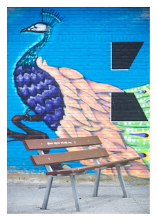 Bench and mural