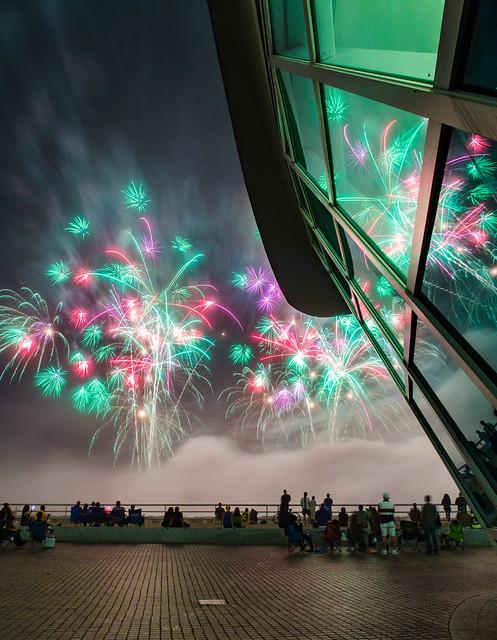 Foggy Lakefront MAM Fireworks